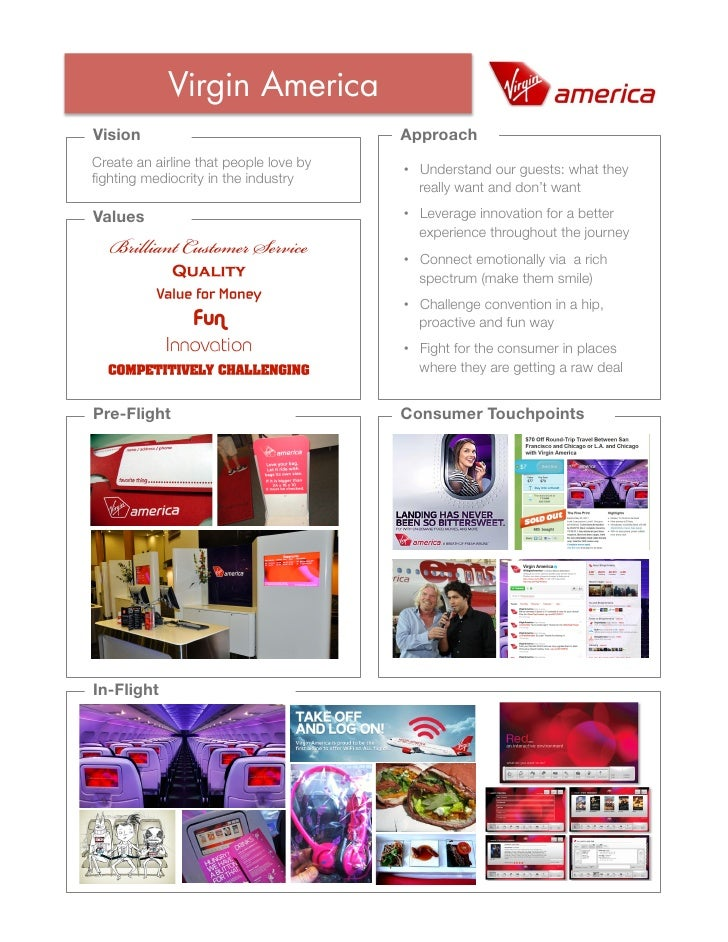 Virgin AmericaVision                                 ApproachCreate an airline that people love by                        ...