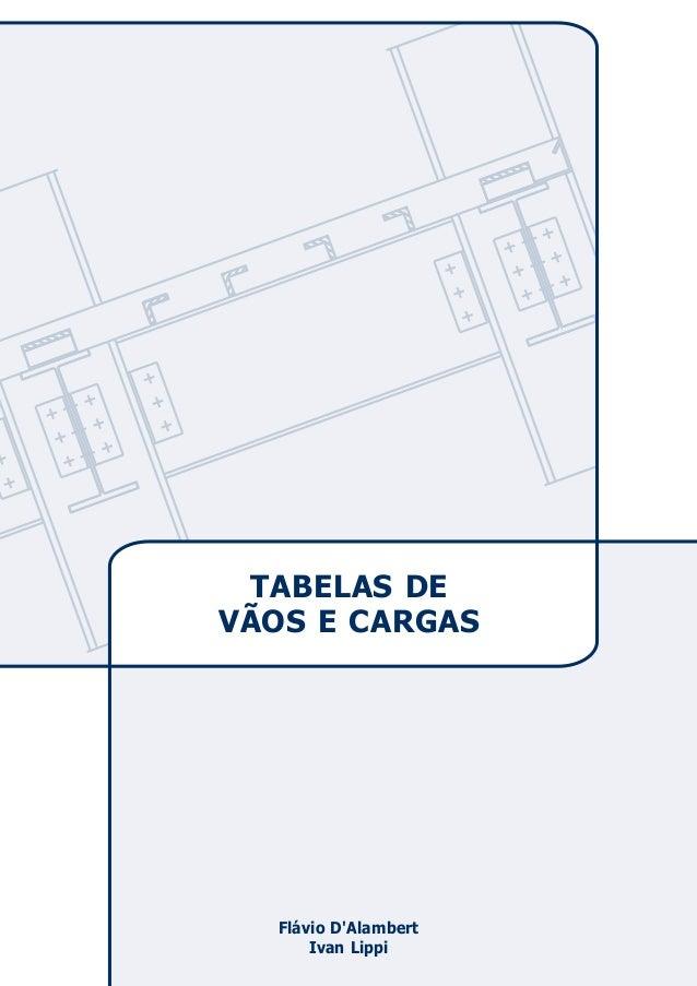 TABELAS DE  VÃOS E CARGAS  Flávio D'Alambert  Ivan Lippi
