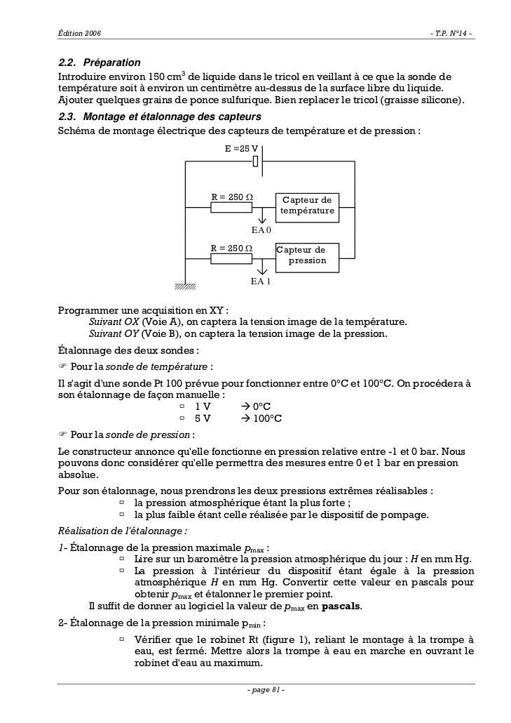 Édition 2006                                                                    - T.P. N°14 -2.2. PréparationIntroduire en...