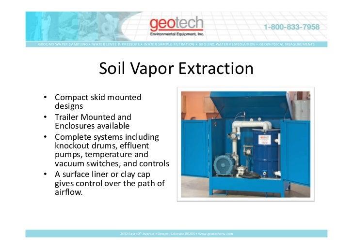 Vapor phase remediation r1 for Soil vapor extraction