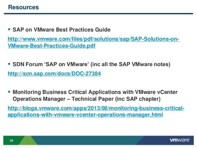 VMworld 2013: Real-world Design Examples for Virtualized SAP Environm…