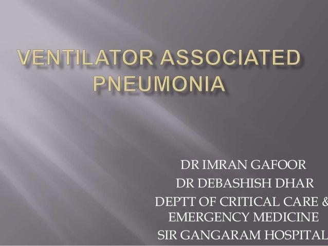 how to detect ventilator associated pneumonia