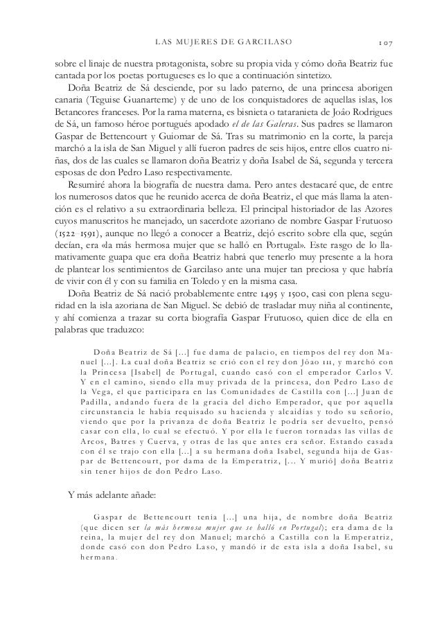 LAS MUJERES DE GARCILASO  sobre el linaje de nuestra protagonista, sobre su propia vida y cómo doña Beatriz fue cantada...