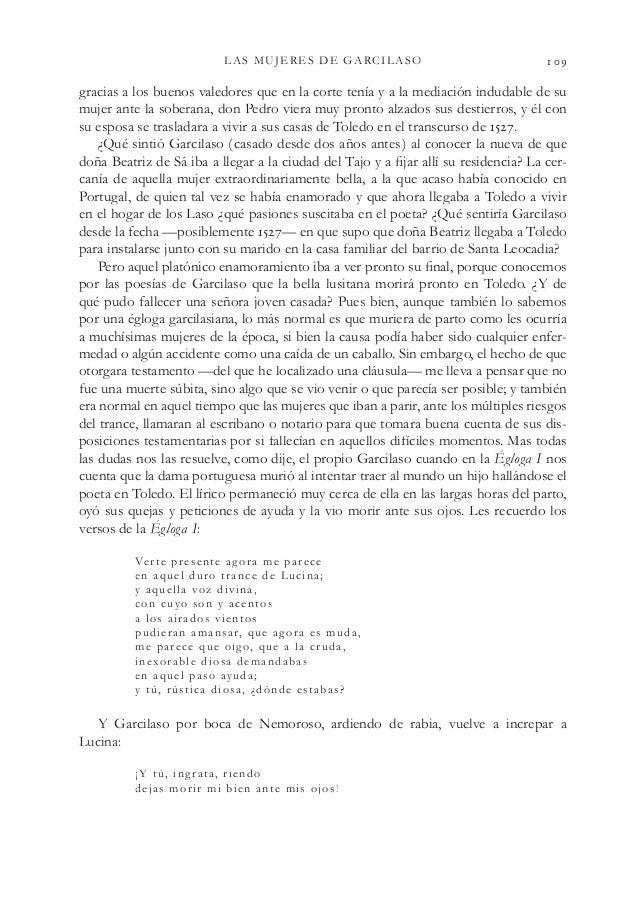 LAS MUJERES DE GARCILASO  gracias a los buenos valedores que en la corte tenía y a la mediación indudable de su mujer a...