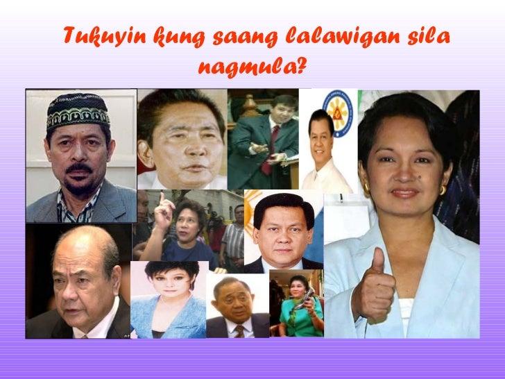 Tukuyin kung saang lalawigan sila nagmula?