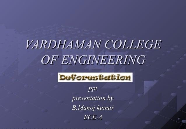 VARDHAMAN COLLEGE  OF ENGINEERING           ppt     presentation by     B.Manoj kumar         ECE-A