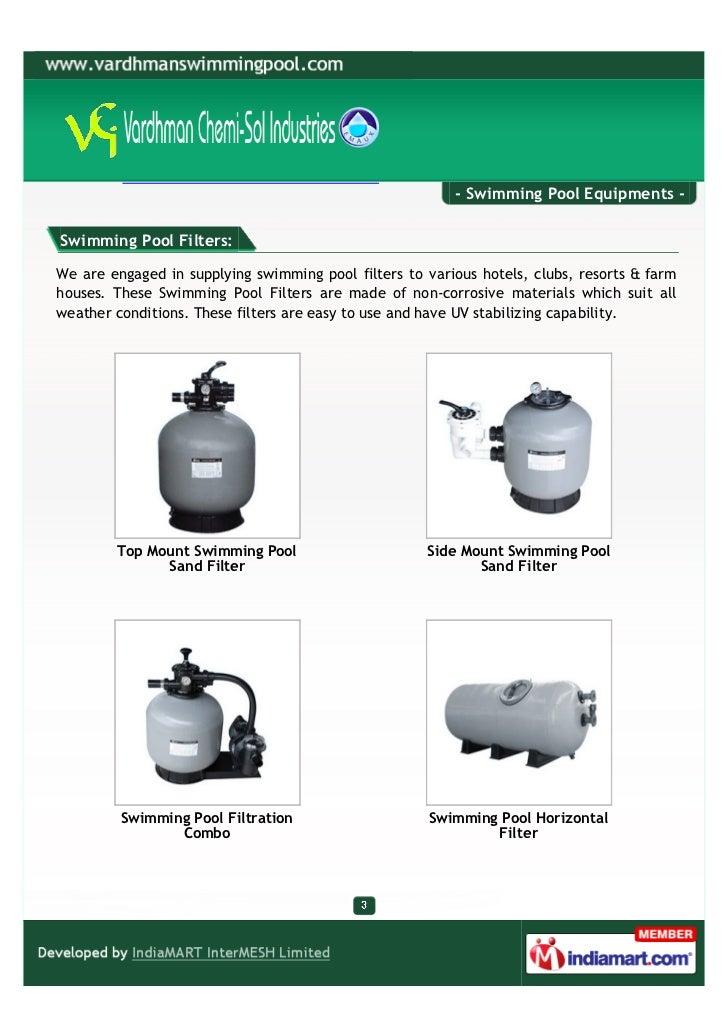 Vardhman Chemi - Sol Industries, New Delhi, Swimming Pool Equipments  Slide 3