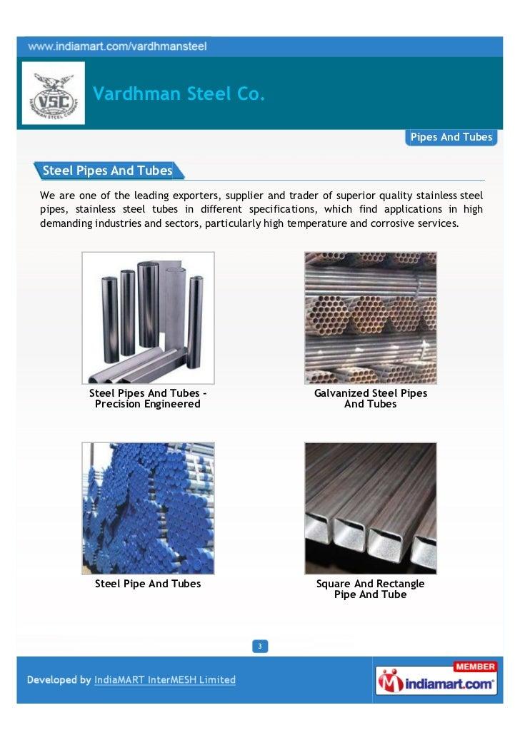 Vardhman Steel Co., Ghaziabad, Pipes Tubes Slide 3
