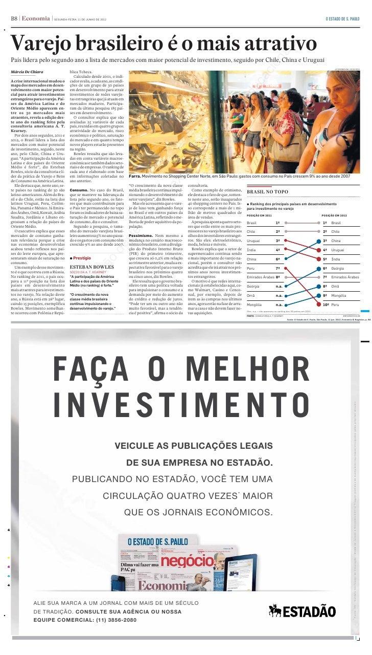 B8 Economia%HermesFileInfo:B-8:20120611:                                      SEGUNDA-FEIRA, 11 DE JUNHO DE 2012          ...