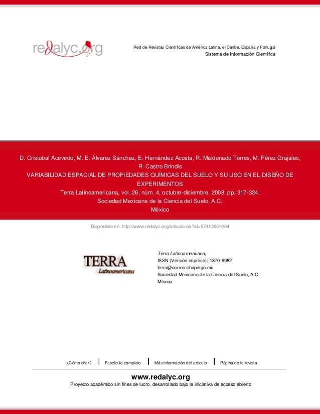 Disponible en: http://www.redalyc.org/articulo.oa?id=57313051004 Red de Revistas Científicas de América Latina, el Caribe,...