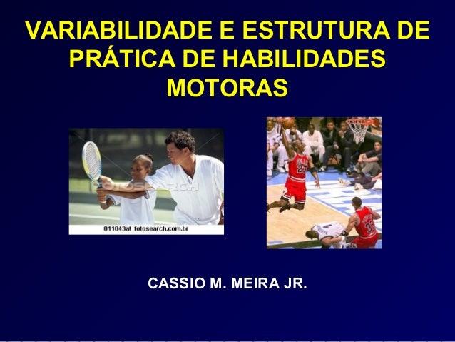 VARIABILIDADE E ESTRUTURA DE PRÁTICA DE HABILIDADES MOTORAS CASSIO M. MEIRA JR.