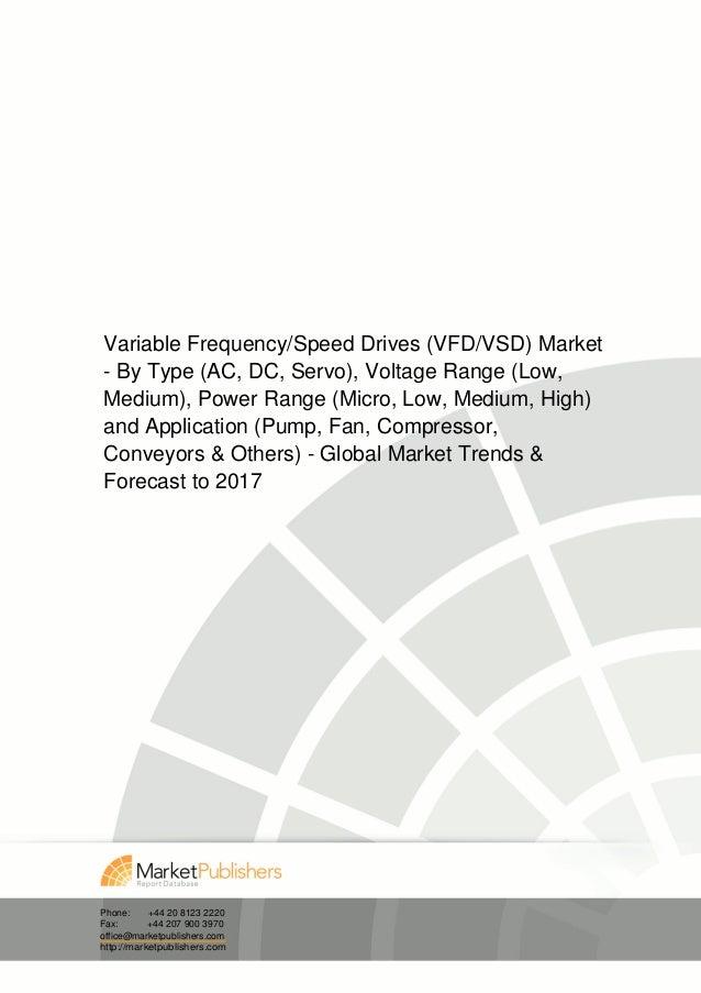 Variable Frequency/Speed Drives (VFD/VSD) Market- By Type (AC, DC, Servo), Voltage Range (Low,Medium), Power Range (Micro,...