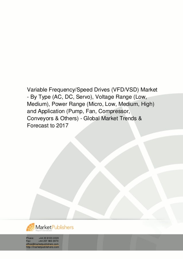 Variable Frequency/Speed Drives (VFD/VSD) Market- By Type (AC, DC, Servo), Voltage Range (Low,Medium), Power Range (Micro,...