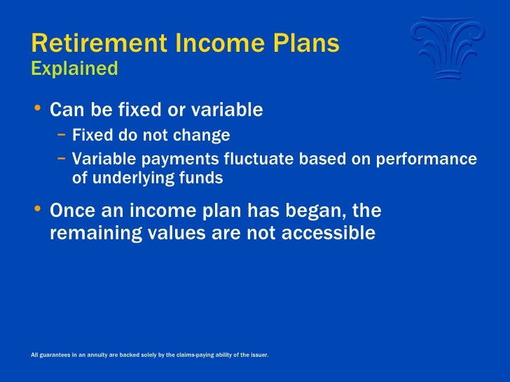 Variable Annuities In Retirement