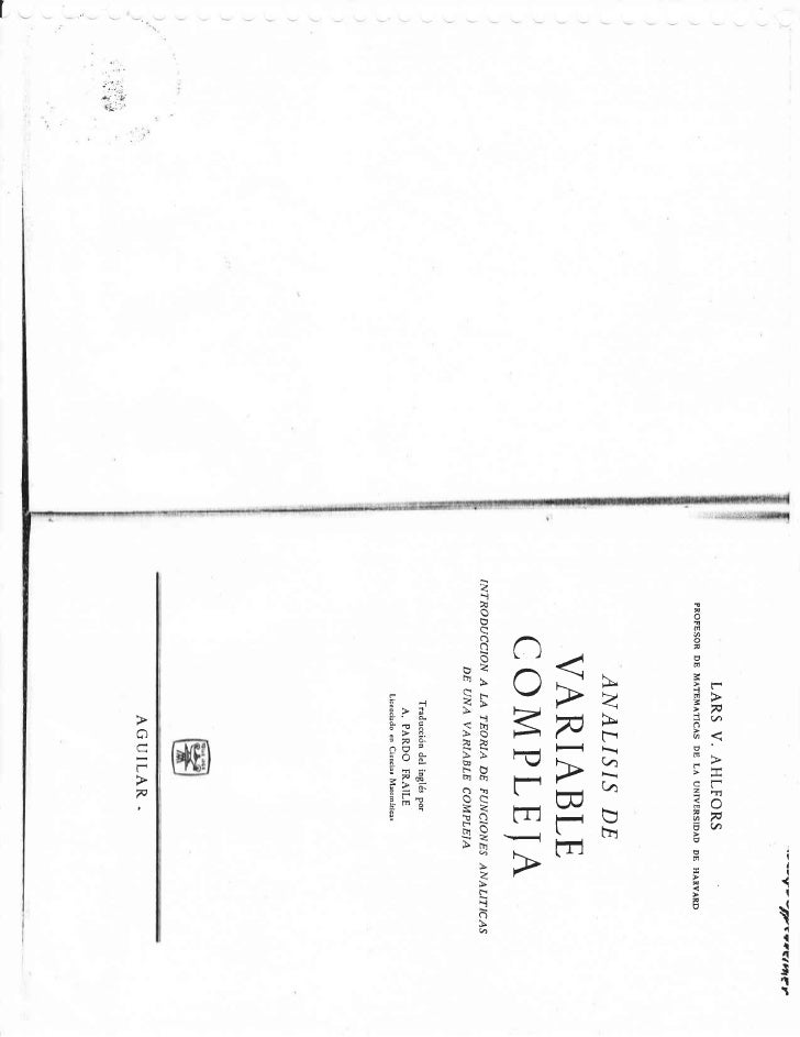 AHLFORS VARIABLE COMPLEJA PDF