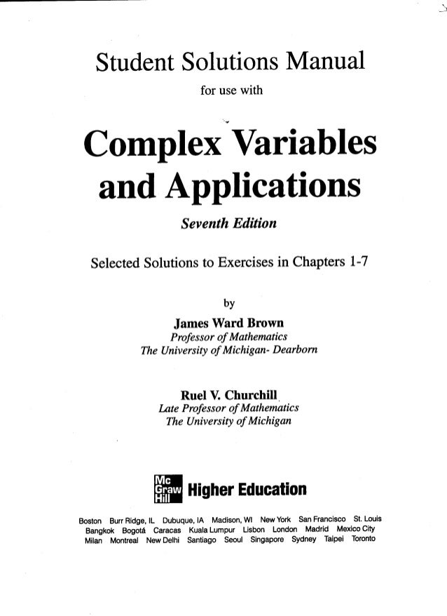 Free Spiegel Complex Variables Pdf