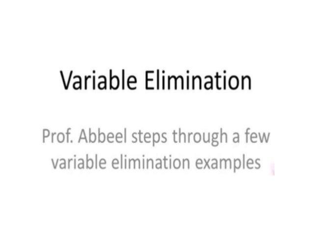 Variable eliminatin example