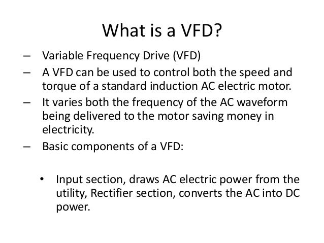 Electric Motors And Vfd