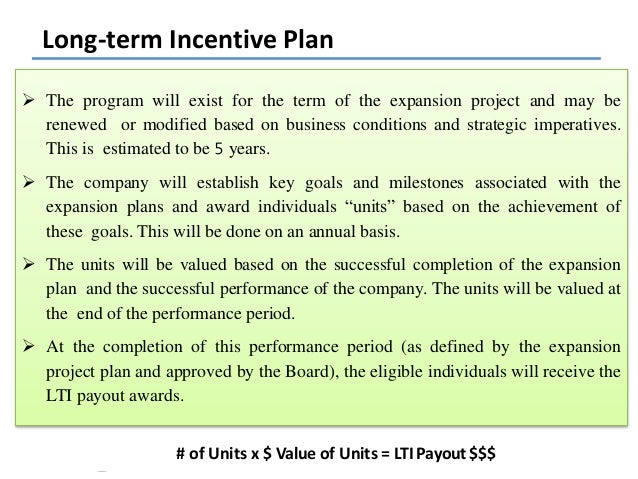 Variable pay for Long term incentive plan design