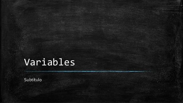 Variables Subtítulo