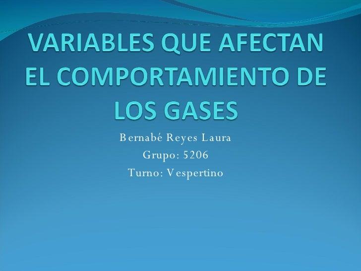 Bernabé Reyes Laura Grupo: 5206 Turno: Vespertino