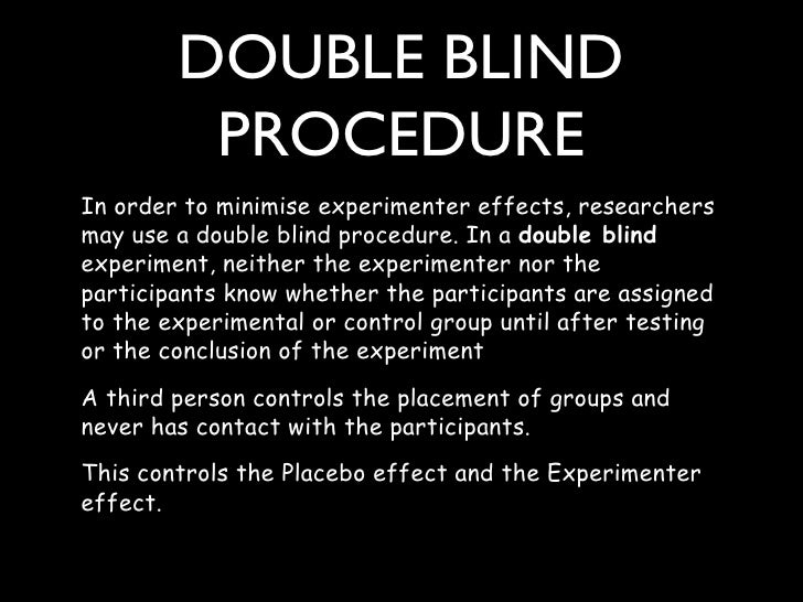 Blinded experiment - Wikipedia