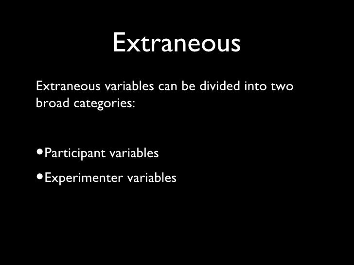 exercise 7 experimental variables An experiment is a procedure carried out to support all variables in an experiment are experimental and quasi-experimental designs for generalized.