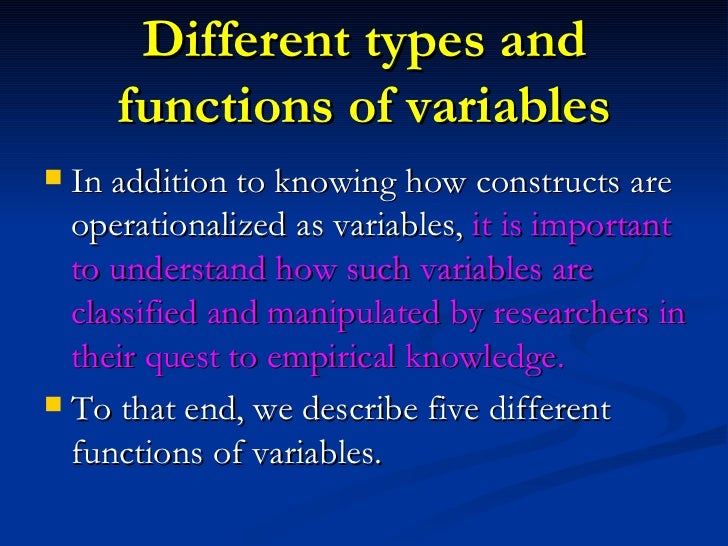 Sample of thesis variables