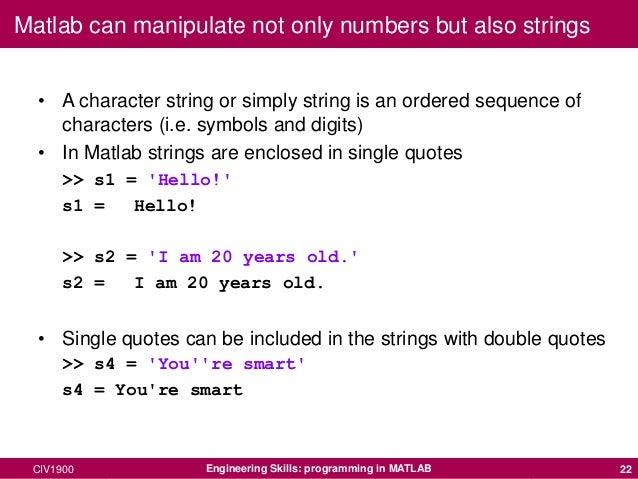 Variables in matlab