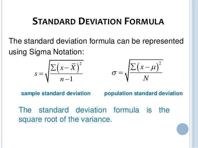 Variance Standard Deviation