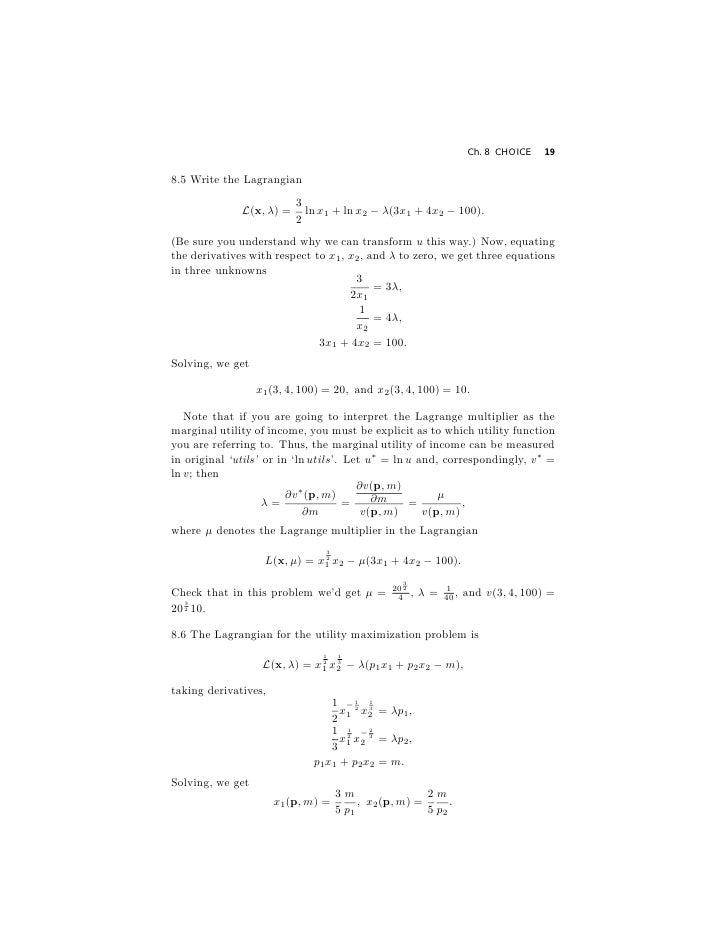 Varian Microeconomic Analysis Solution Book