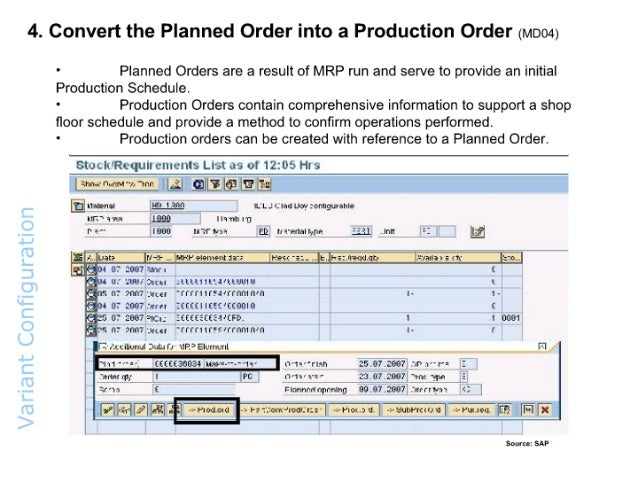 List Of Production Orders In Sap