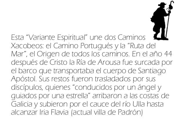 Variante espiritual del Camino Portugués Slide 2