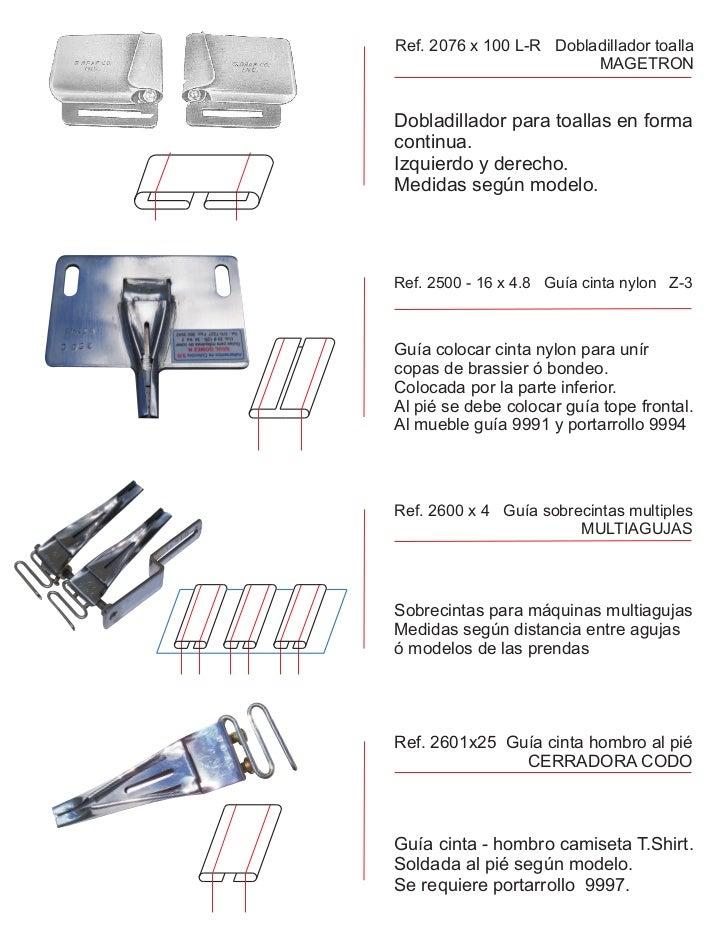 Ref. 2076 x 100 L-R Dobladillador toalla                         MAGETRONDobladillador para toallas en formacontinua.Izqui...