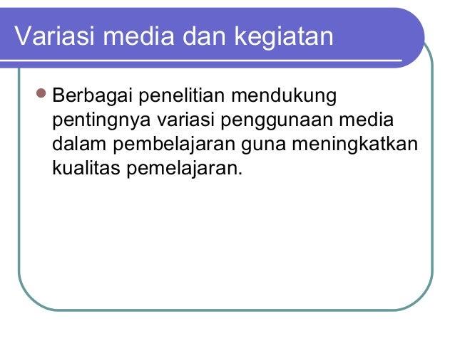 Variasi Media Pembelajaran Bahasa Inggris
