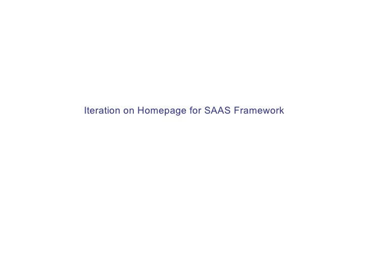 Iteration on Homepage for SAAS Framework