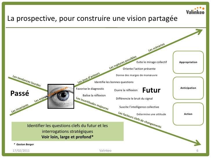 La prospective, pour construire une vision partagée                                                                       ...
