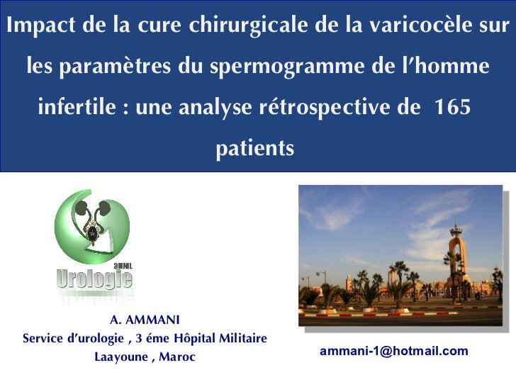 Impact de la cure chirurgicale de la varicocèle sur les paramètres du spermogramme de l'homme infertile: une analyse rétr...