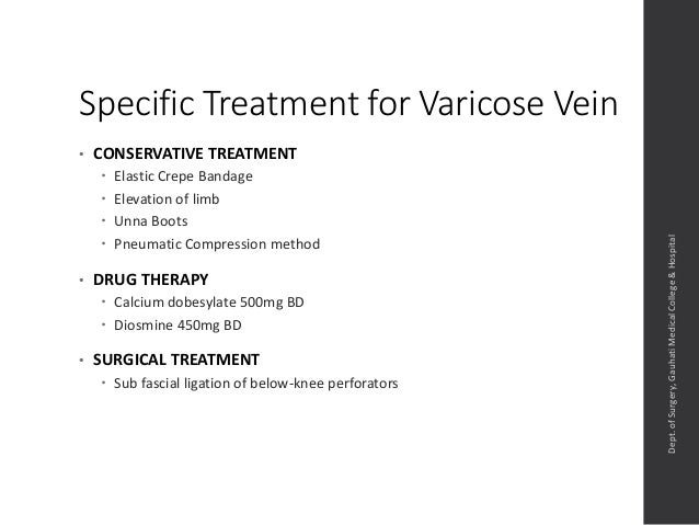 management of varicose veins