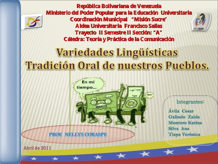 """República Bolivariana de Venezuela Ministerio del Poder Popular para la Educación  Universitaria Coordinación Municipal  """"..."""
