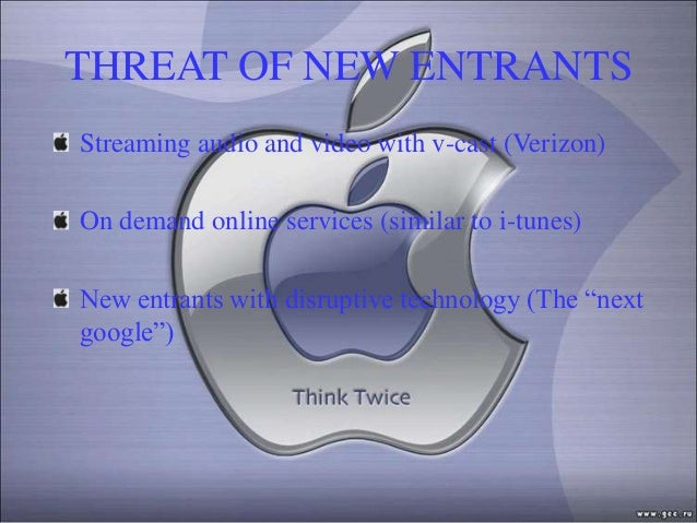 THREAT OF NEW ENTRANTSStreaming audio and video with v-cast (Verizon)On demand online services (similar to i-tunes)New ent...