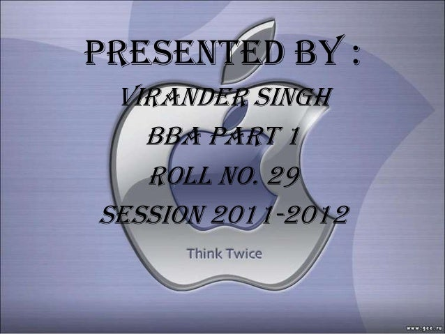 Presented by : Virander singh   Bba part 1   Roll no. 29Session 2011-2012