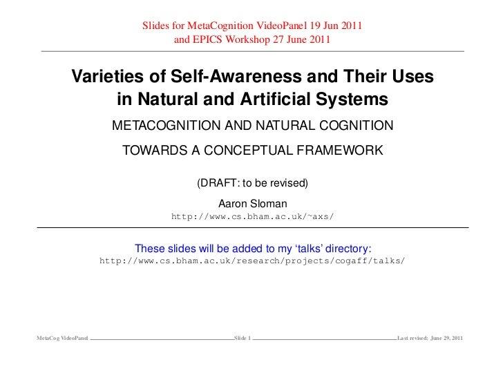 Slides for MetaCognition VideoPanel 19 Jun 2011                                    and EPICS Workshop 27 June 2011        ...