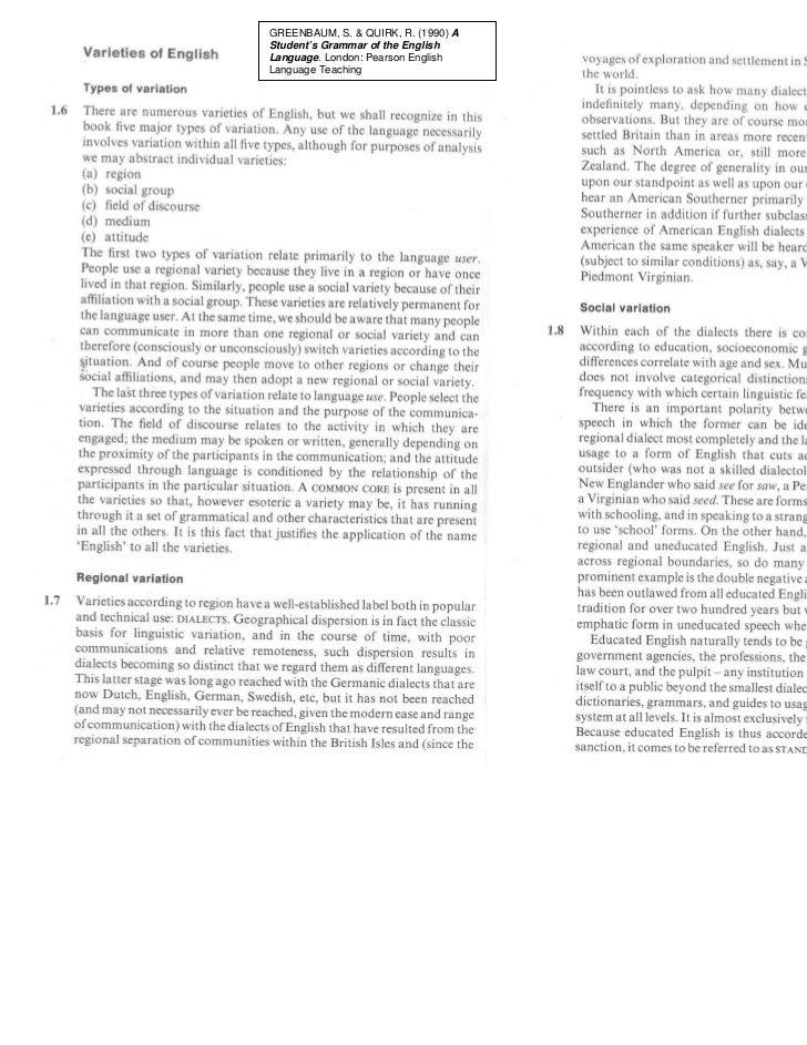 GREENBAUM, S. & QUIRK, R. (1990) AStudent's Grammar of the EnglishLanguage. London: Pearson EnglishLanguage Teaching