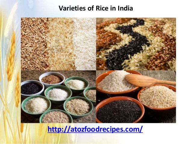 Varieties of rice in india
