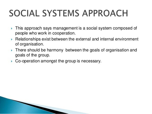 social system approach