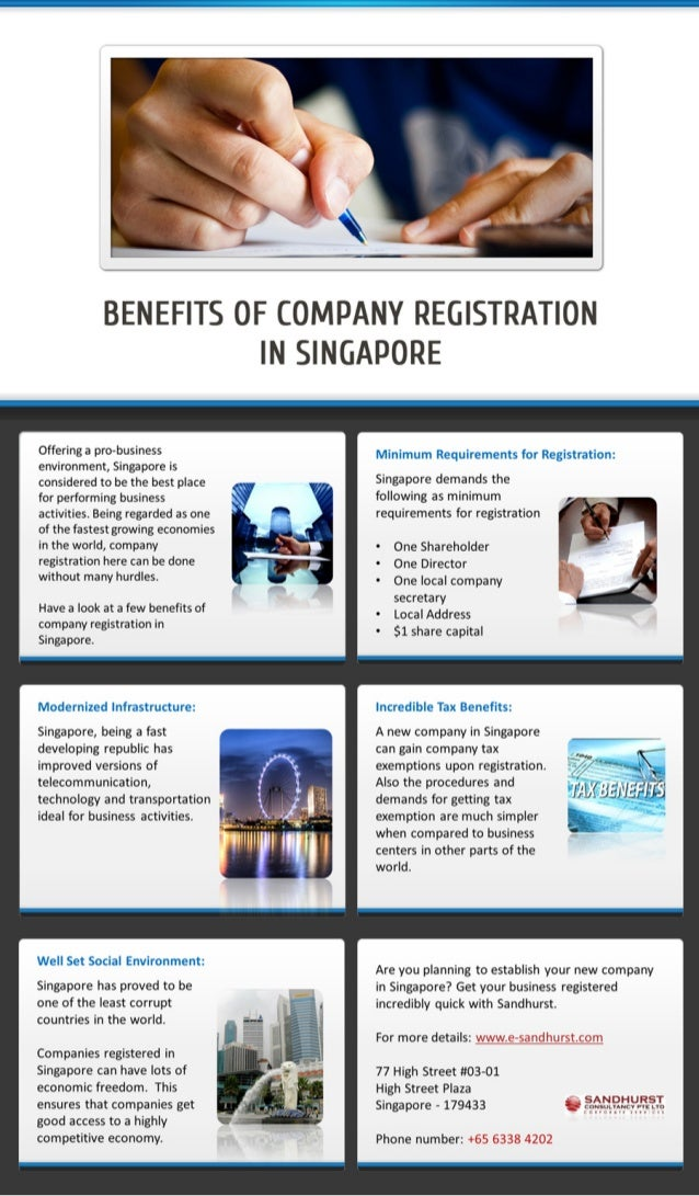 Various Benefits of Singapore company registration