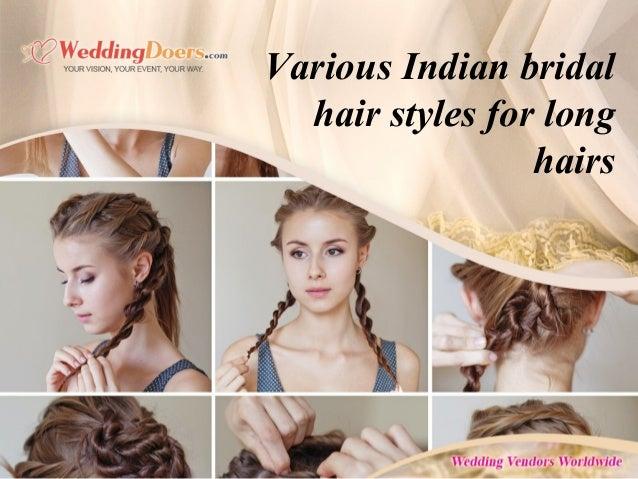 Various Indian Bridal Hair Styles For Long Hairs