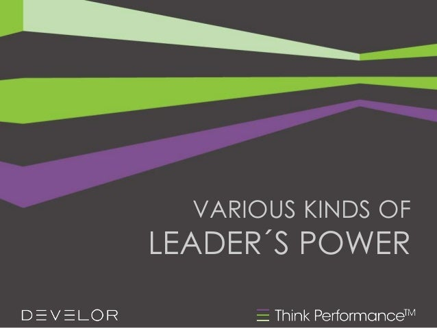 VARIOUS KINDS OF LEADER´S POWER