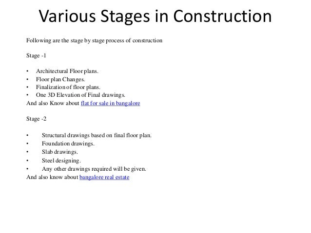 Various Stages In Construction